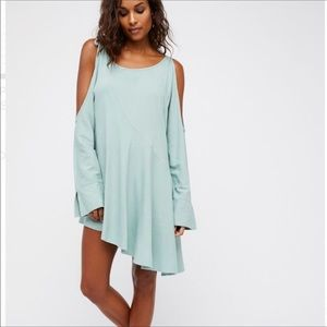 Free People BOHO Cold Shoulder Clear Skies Tunic